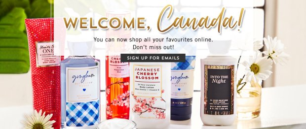 Bath and Body Works Canada Canadian Website Now Launched - Glossense