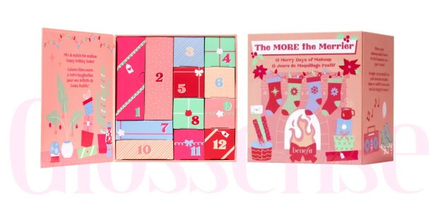 Benefit Cosmetics Canada 2021 The More The Merrier Makeup Holiday Advent Calendar Canadian Set - Glossense