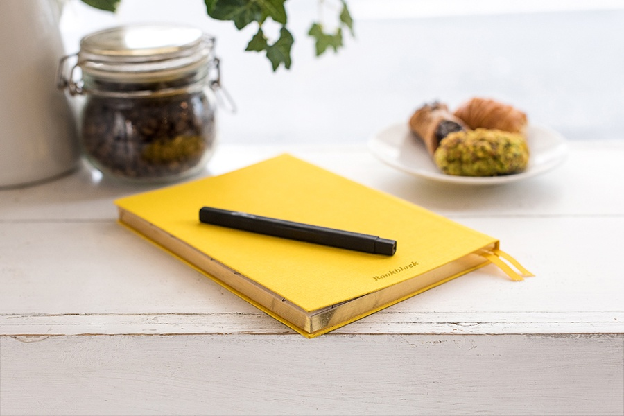 yellow journal notebook