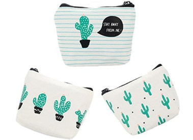 cactus coin purse pouch