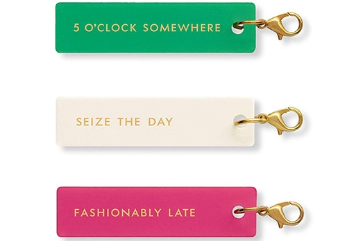 kate spade planner accessories charm set