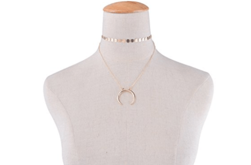 moon choker pendant necklace