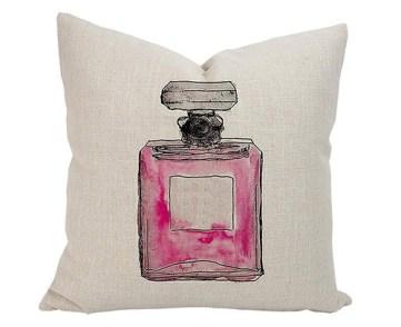 perfume pink pillow