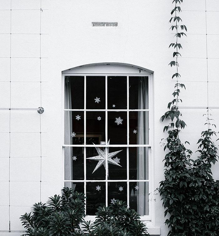 christmas decor snowflakes window