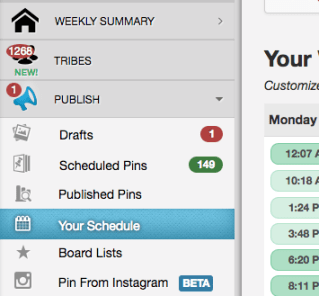 your schedule tailwind tab