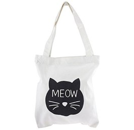 cat meow tote bag