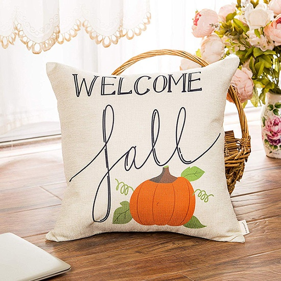 welcome fall pillow