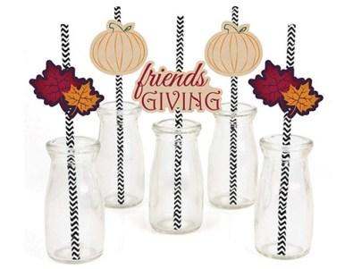 fall fun decorative straws
