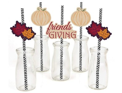 fall fun decorative straws
