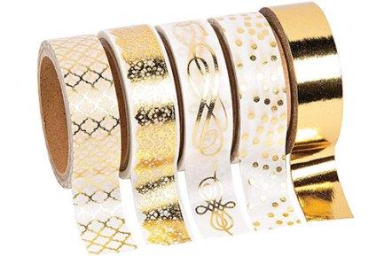 gold foil print washi tape
