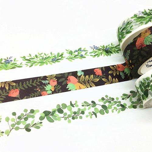 washi tape plants and flowers