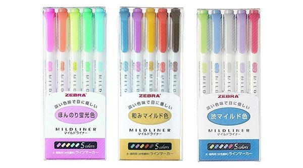 zebra mildliner highlighter set