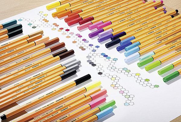 Stablio point 88 fineliner pens