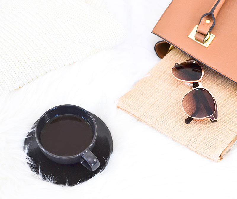 cup with sunglasses