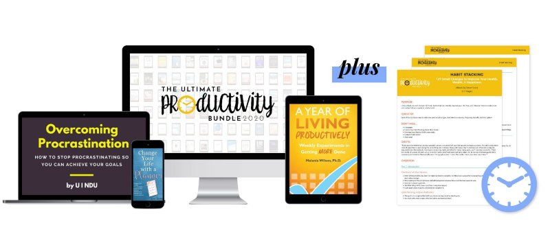 the ultimate productivity bundle 2020 with cheat sheets
