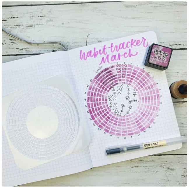 circle stencil for bullet journals