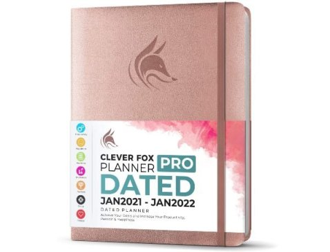 clever fox planner pro rose gold