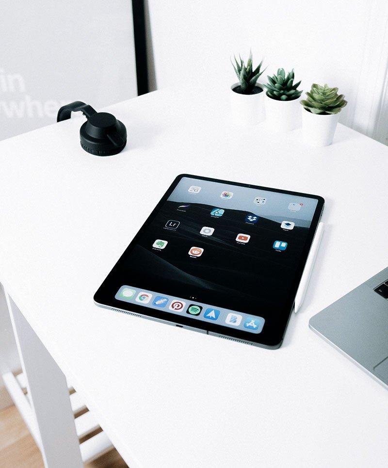 ipad on a table