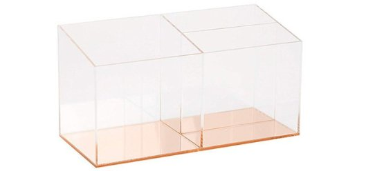 rose gold acrylic desk organizer