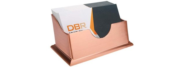 rose gold business card holder