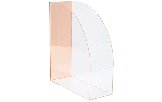 rose gold magazine holder