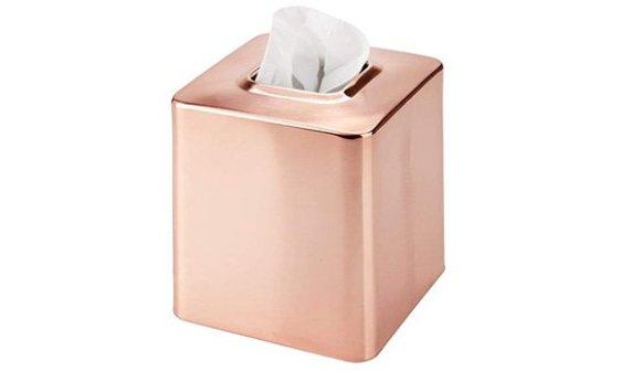 rose gold tissue box cover