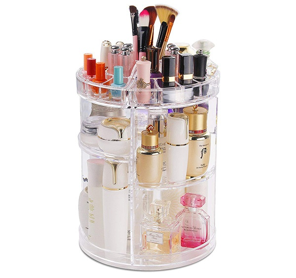 COOLBEAR 360 Degree Rotating Makeup Storage