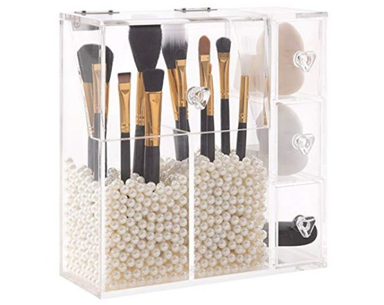 PuTwo Makeup Brush Holder And Makeup Sponge Cube