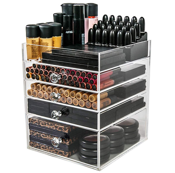 n2 makeup co acrylic makeup organizer cube