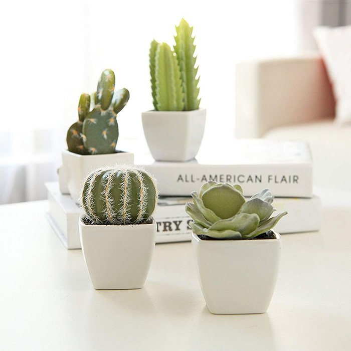 artificial mini succulent and cactus plants
