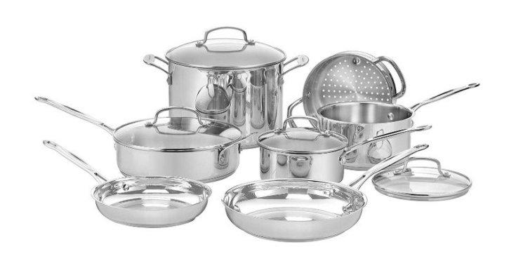 Cuisinart Stainless Steel 11-Piece Cookware Set