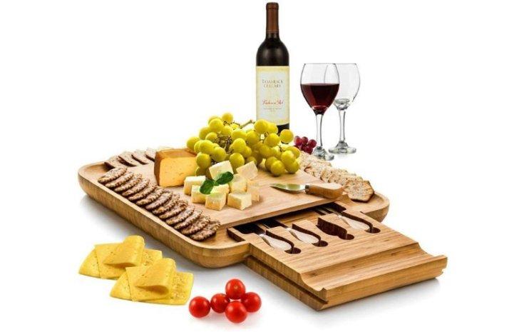 Bamboo Cheese Board & Knife Set