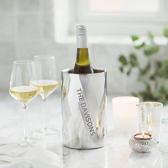 Personalised Swirl Wine Cooler Bucket