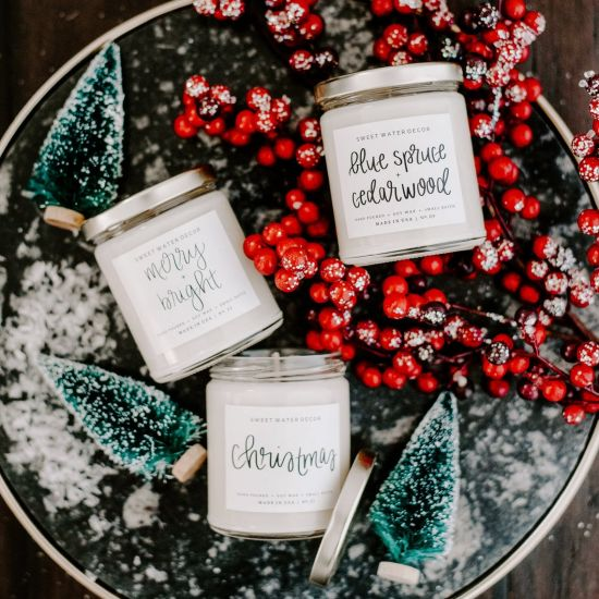 fragrant winter candles