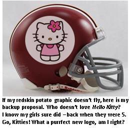 Redskin helmet - Hello Kitty