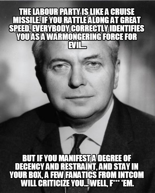 harold wilson fuck the warmongers