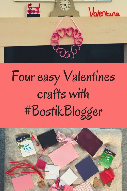Easy valentines crafts to do with kids! 4 simple easy to do crafts with full instructions