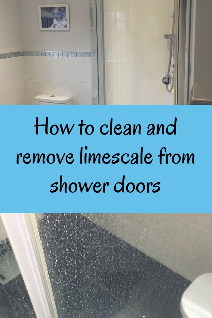 How to clean and remove limescale from shower doors