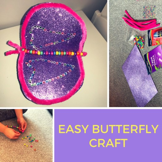 Easy butterfly craft to do at home- minimal items