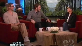 Brad Pitt And Chris Pratt Interview Sept 22 2011