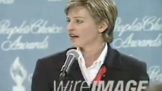 Ellen DeGeneres People's Choice Award Pressroom Interview 1995