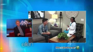 Ellen Is In Bruno Mars' Ear Feb 10 2014