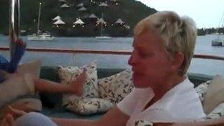 Ellen singing Someone Saved My Life Tonight Dec 2010