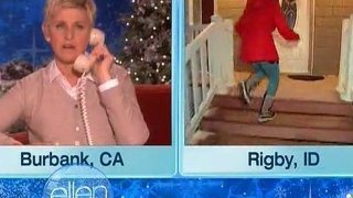 Ellen Surprises A Family With All The 12 Days Of Giveaways Dec 16 2011