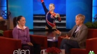 Jordyn Wieber Interview And Uneven Bars Performance Jan 06 2012