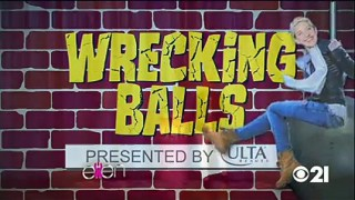 Miley Cyrus & Ellen Play Wrecking Balls Oct 16 2015