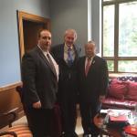 Left-to-right: Chief Campanello, Senator Markey, Rep. Wong. (Courtesy of John Guilfoil Public Relations LLC)