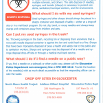 Gloucester Police Create PSA for Safe Sharps and Needle Disposal Program