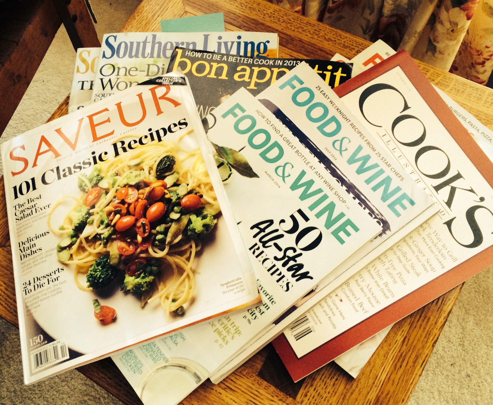 Food Magazine Treasures:  Serrano Ham and Corn Pudding