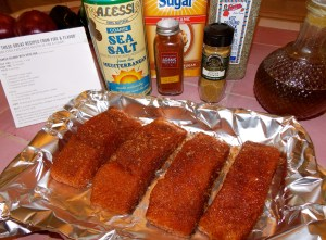 The spice rub assembles quickly and is just the right balance of sweet and spicy